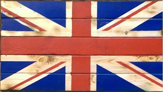 Rustic Wooden Union Jack Flag