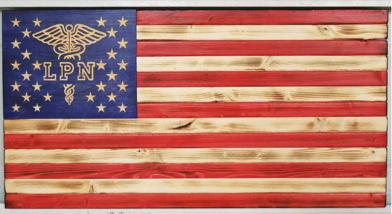Wooden LPN flag